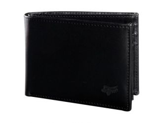 FOX BIFOLD LEATHER WALLET [BLK]