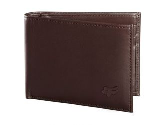 FOX BIFOLD LEATHER WALLET [BRN]